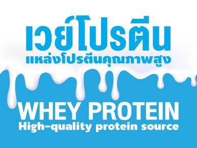 เวย์โปรตีน แหล่งโปรตีนคุณภาพสูง